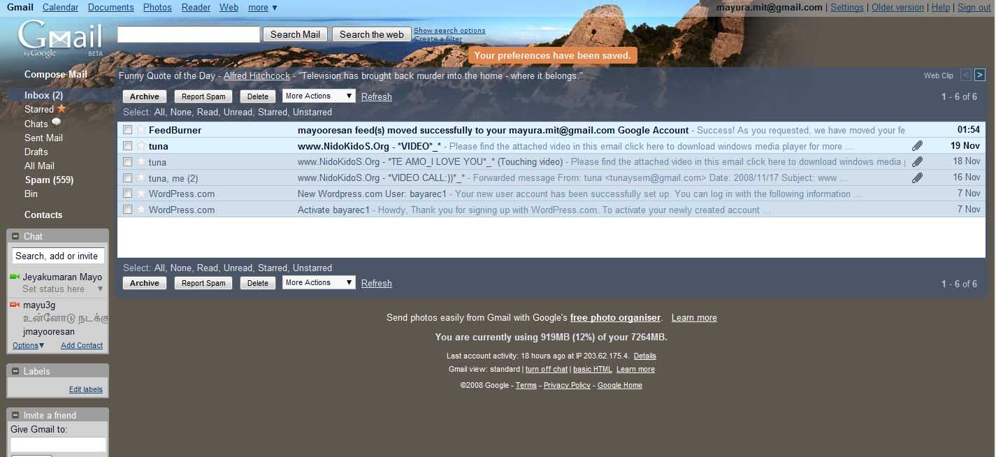 Google themes for gmail