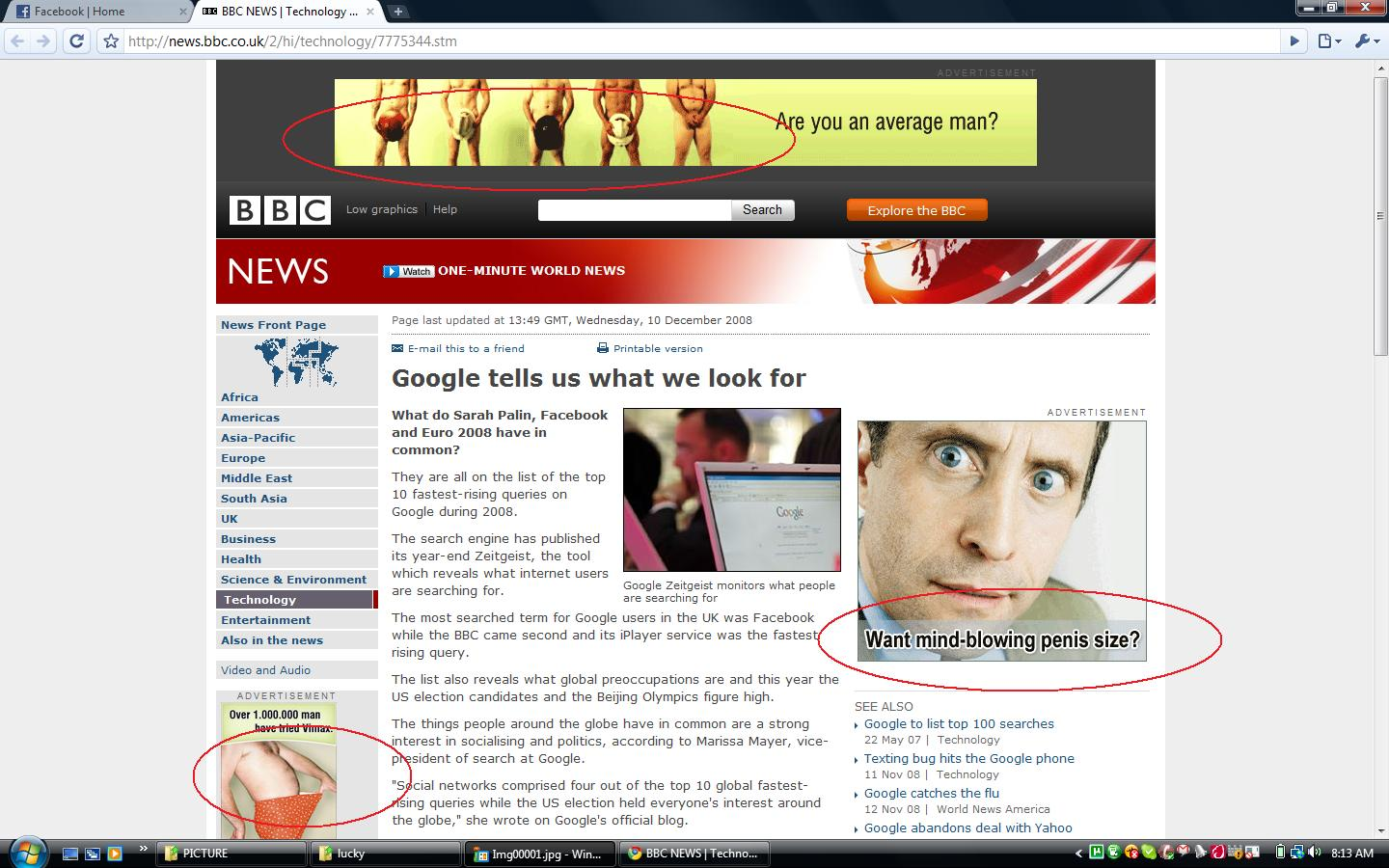BBC with Adult Advertisements - Click to enlarge