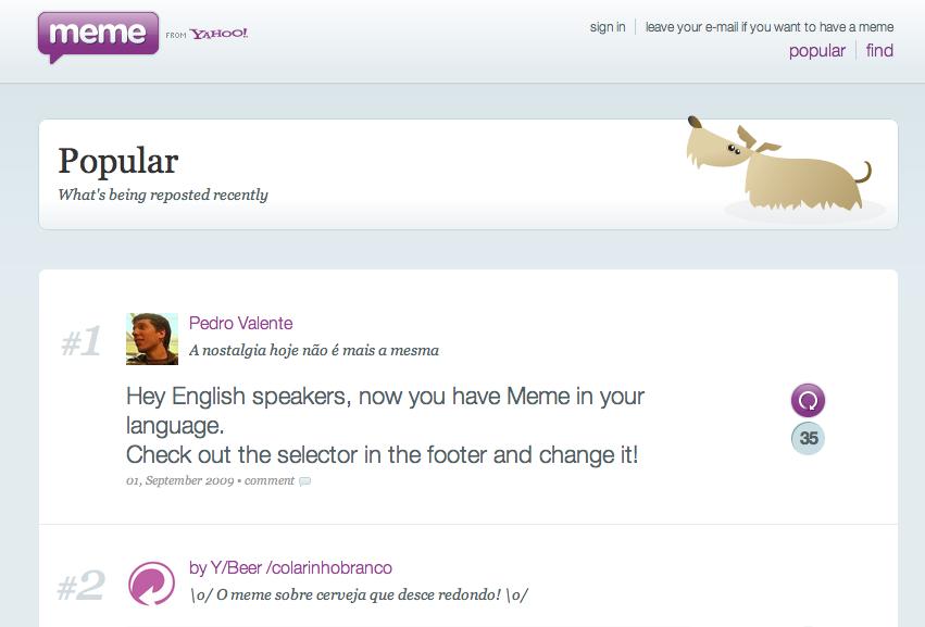 Yahoo's Twitter